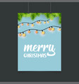 merry christmas lighting background vector image vector image