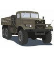 Military heavy truck vector image vector image