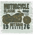 Motorcycle Racing t-shirt vector image vector image