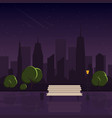 night in the park after rain night cityscape view vector image