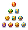 numbers on glossy ball vector image