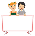 Of Cute Children Holding Red F vector image vector image