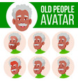 old man avatar set black afro american vector image