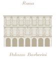 Palazzo Barberini in Rome vector image