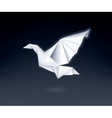 Paper Dove vector image vector image