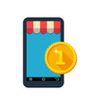 payment via smartphone contactless payment vector image