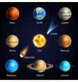Realistic Planets Set vector image vector image