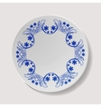 Realistic Plate Closeup Porcelain vector image vector image