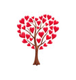 romantic tree love with hearts vector image vector image