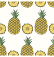 seamless pattern of pineapples fruit background vector image vector image