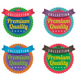 Set of Colorful Round Labels vector image vector image