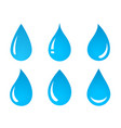 set of water drop icons vector image