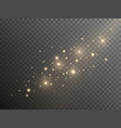 shining gold dust on transparent background vector image vector image