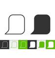 speech bubble simple badge black line icon vector image