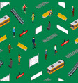 subway station seamless pattern background vector image vector image