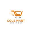 supermarket push cart vector image