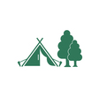 tent and tree vector image