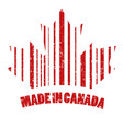 the stamp is made in canada vector image
