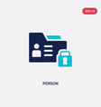 two color person icon from gdpr concept isolated vector image