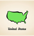 united states - outline map vector image