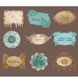 Vintage Paper Wedding Frame collection vector image vector image