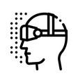 virtual artificial intelligence sign icon vector image vector image