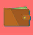 wallet with money wallet vector image