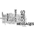 what is sms text word cloud concept vector image vector image