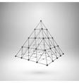 Wireframe mesh polygonal pyramid vector image