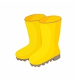 Yellow rubber boots icon cartoon style vector image vector image