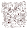 Zen Tangle baby little girl vector image vector image