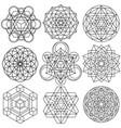 sacred geometry symbols - set 04 vector image