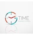 abstract logo idea time concept or clock vector image vector image