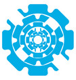 abstract symbol of blue color gears on a white vector image vector image
