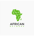 african network link connection logo icon vector image