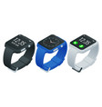 athlete smart watch or fitness bracelet isometric vector image