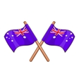 Australia flags icon cartoon style vector image vector image