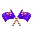 Australia flags icon cartoon style vector image vector image