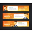 Banner office theme vector image vector image