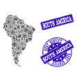 best service composition of map of south america vector image vector image