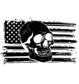 black silhouette america flag vector image