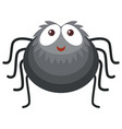 black spider on white background vector image vector image