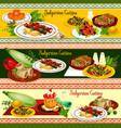 bulgarian cuisine restaurant banner of dinner menu