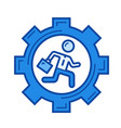 businessman is running line icon vector image vector image