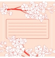 Card Background With Branches vector image