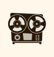 cassette player retro style on light background vector image