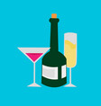 champagne cocktail beverages party vector image vector image