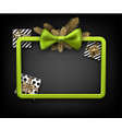christmas background with gifts and green bow vector image vector image