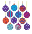 christmas tree ball icons vector image vector image