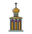church building icon cartoon style vector image